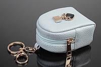 Брелок ключница на сумку рюкзак с сердечком голубой