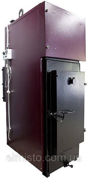 Котел Ardenz T-100 (3bar, 45-110 квт) триходовий на твердому паливі сталевий жаротрубний з футерованной топкою, автоматичним завантаженням і робочим тиском 3Бар