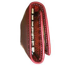 Бордовая женская ключница DR. BOND. Чехол для ключей, фото 3