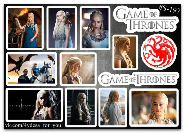 Stickers Pack Game Of Thrones, Игры Престолов #197