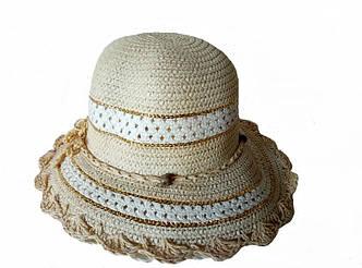 Летняя шляпа рисовая соломка