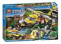 Конструктор Bela 10713 Город Вертолёт для доставки грузов в джунгли (аналог Lego City 60162), 1298 деталей