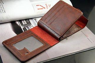 Мужской кошелек. Черный и коричневый, фото 3
