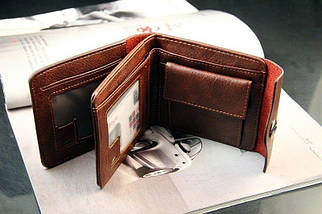 Мужской кошелек. Черный и коричневый, фото 2