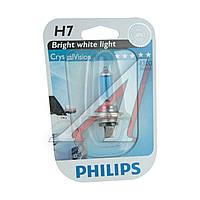 Лампа накаливания H7 12V 55W PX26d Cristal Vision 1шт blister 4300K (пр-во Philips) 12972CVB1