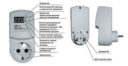 Реле контроля напряжения в розетку ZUBR R1, Украина, фото 2