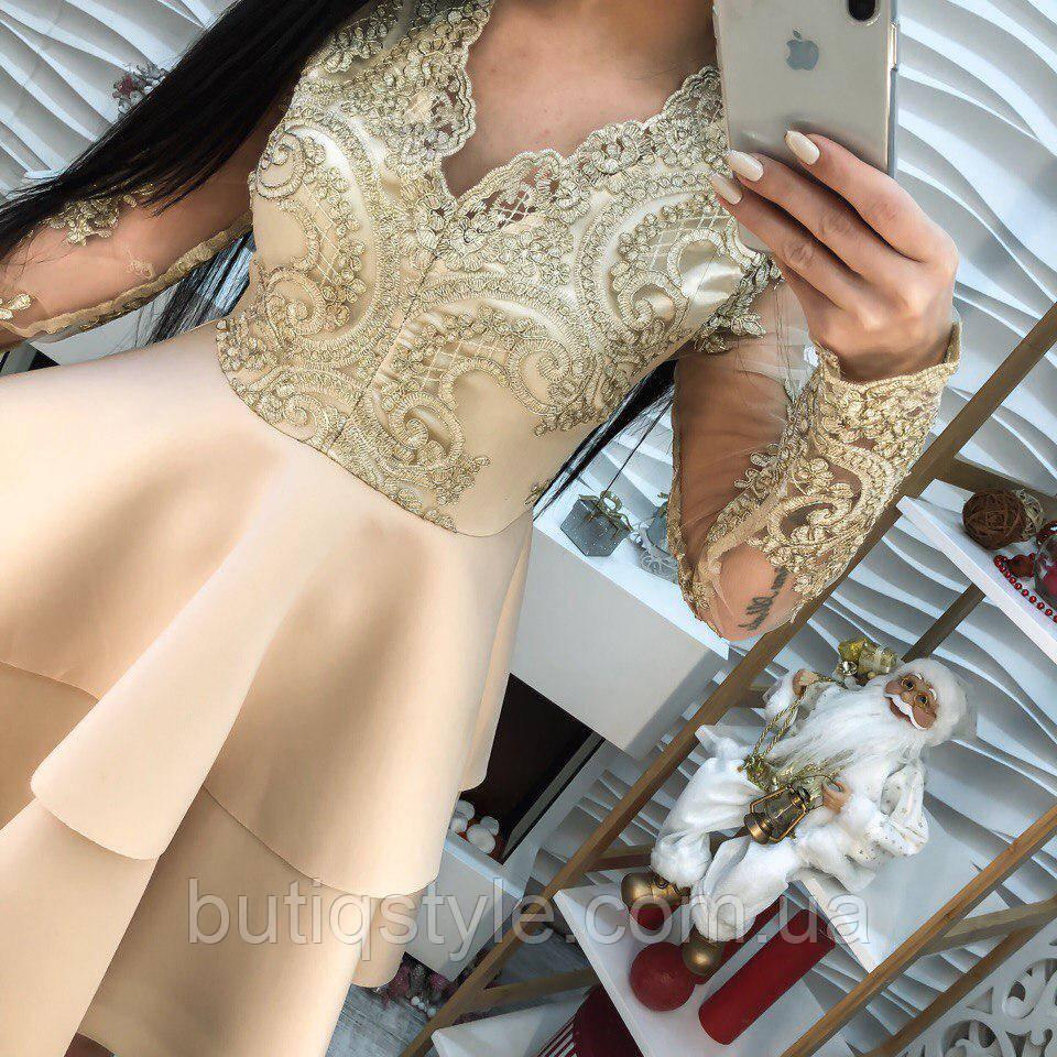 e2d6574ed95 Модное женское платье кружево с вышивкой