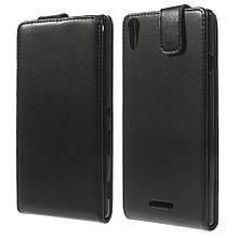 Чехол Flip Vertical для Sony Xperia T3 D5102 черный