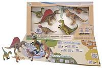 Обучающий игровой набор с QR-картой Хищные динозавры Wenno (WCD1701)