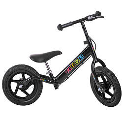 Беговел PROFI KIDS детский 12 д. M 3436AB-1 (1шт) колеса резина,пласт.обод,тормоз,черный