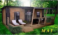 Модульные здания, Дачный домик для туристов, Конструкции металлические