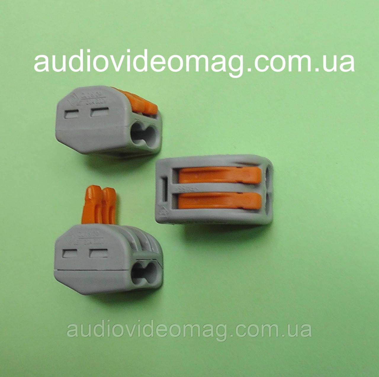 Многоразовая зажимная соединительная клемма 222-412 на 2 провода