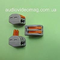 Многоразовая зажимная соединительная клемма 222-412 на 2 провода, фото 1