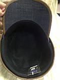 Кепка немка трансформер из плотного синего джинса 57-58.59, фото 5