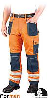 Брюки рабочие сигнальные LEBER&HOLLMAN (рабочая одежда сигнальная) LH-FMNX-T PGS