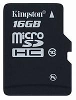 Карта памяти microSD Kingston 16 GB class 10