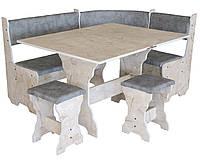 Кухонный уголок+раскладной стол+табуреты Сицилия (Компанит)