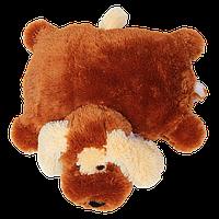 Подушка Алина собачка Шарик 55 см коричневый