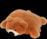 Подушка-игрушка Алина мишка 45 см коричневая