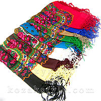 Українська хустка 90х90 (різні кольори)