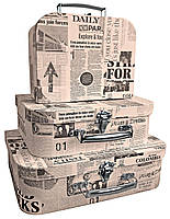 """Подарочные коробки, """"Чемодан"""", набор из 3 шт"""
