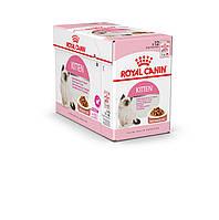 Royal Canin Kitten Instinctive (кусочки в соусе) корм для котят до 12 месяцев  85г*12шт, фото 1