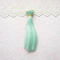 Волосы для кукол в трессах, светлая мята - 15 см