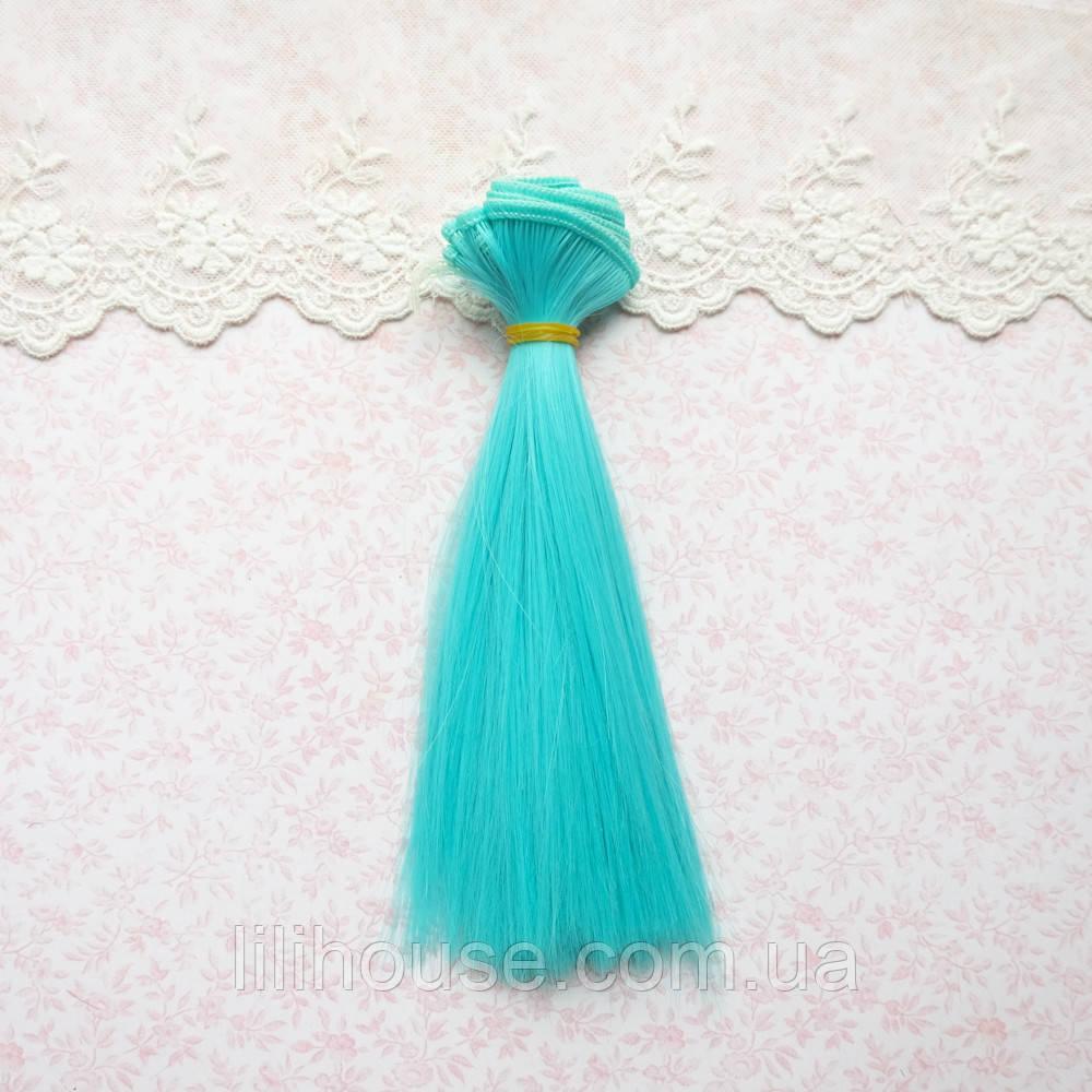 Волосы для Кукол Трессы ГОЛУБЫЕ 15 см