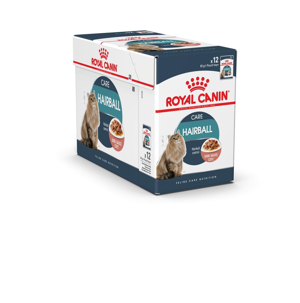 Royal Canin Hairball Care 85г*12шт-консервированный корм для котов вывод волосяных комочков