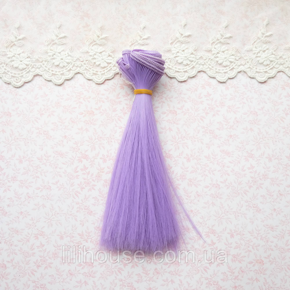 Волосы для кукол в трессах, аметист - 15 см