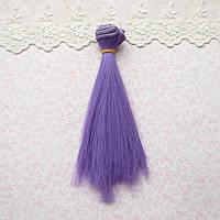 Волосы для кукол в трессах, индиго - 20 см