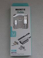 Магнітний USB кабель шнур андроїд micro USB