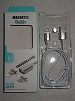 Магнітний кабель на Android micro usb, магнітна зарядка