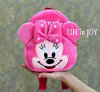 Детский рюкзак для девочки Минни Маус розовый в садик, для прогулок.