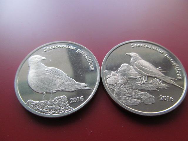 Шетландские острова 1 фунт 2016 год 2 монеты