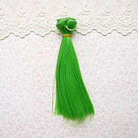 Волосы для кукол в трессах, зеленая трава - 15 см