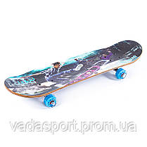 Скейтборд прозрачные колеса PU 508