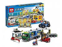 "Конструктор Lepin02082аналог LEGO City Сити 60169  ""Пассажирский терминал в аэропорту"", 829деталей"