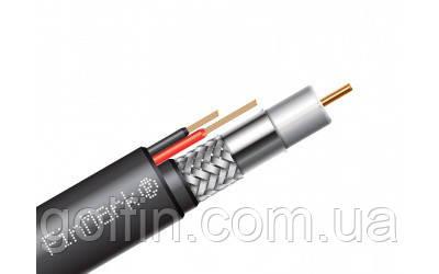 Абонентский коаксиальный кабель FinMark F690BV-2x0.75 POWER PVС bl с дополнительными токоведущими проводниками