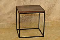 Столик металический лофт куб