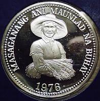 Серебренная монета Филиппин 25 песо 1976 г