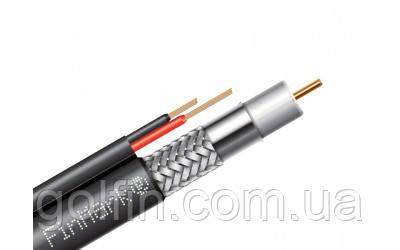 Абонентский коаксиальный кабель FinMar F690BVcu-2x0.75 POWER black с дополнительными токоведущими проводниками