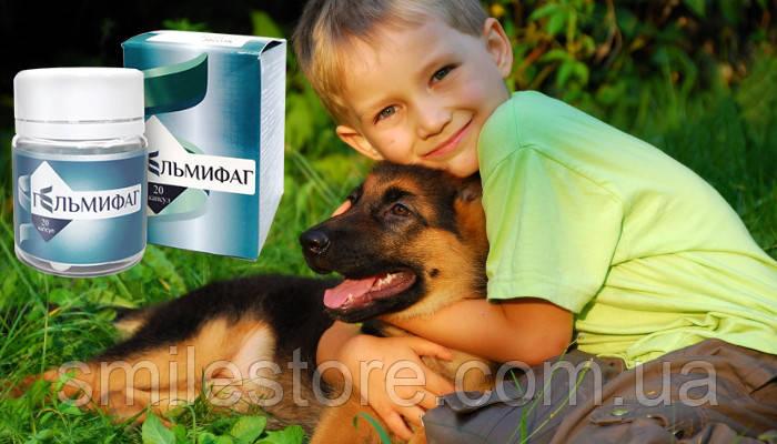 Гельмифаг — Антипаразитарное средство.