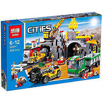 "Конструктор Lepin 02071аналог LEGO City Сити 4204  ""Шахта"", 838деталей"