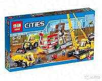 """Конструктор Lepin02042аналог LEGO City Сити 60076  """"Площадка для сноса зданий"""", 869деталей"""