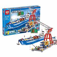 """Конструктор Lepin02034аналог LEGO City Сити 7994  """"Городской порт"""", 695деталей"""