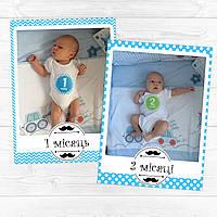 Гирлянда с фото Вашего малыша по месяцам