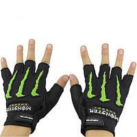 Вело-мото перчатки MONSTER BC-5090-BK(L)