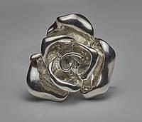 Кольцо Роза из серебра, фото 1