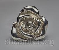 Кольцо Роза из серебра